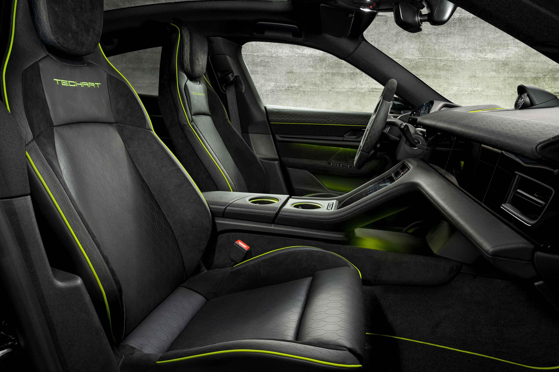 TECHART premium interior refinement for the Porsche Taycan
