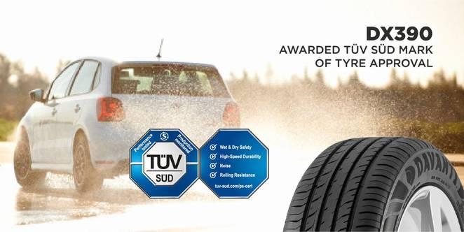 Davanti Tyres Wins TÜV SÜD Approval