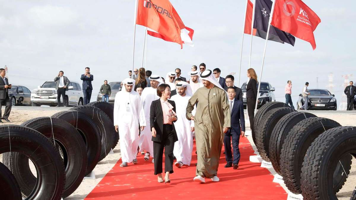 Chinese and UAE officials Break Ground for New Tire Plant in Abu Dhabi