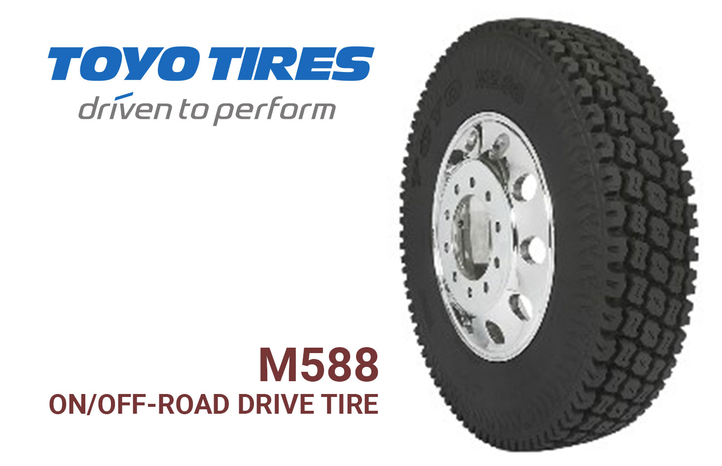 Toyo Tires Launches M588 On/Off-Road Drive Tire