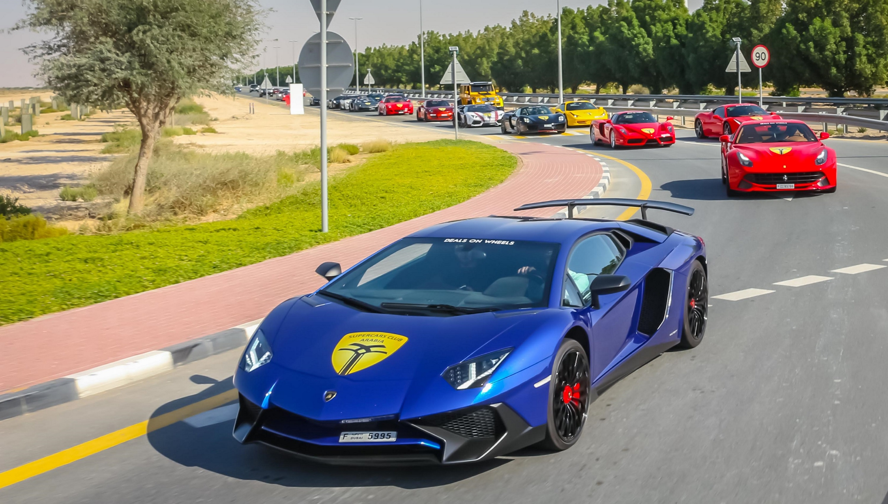 SCA Drive Brings Together Spectacular Array of Supercars for the New Year