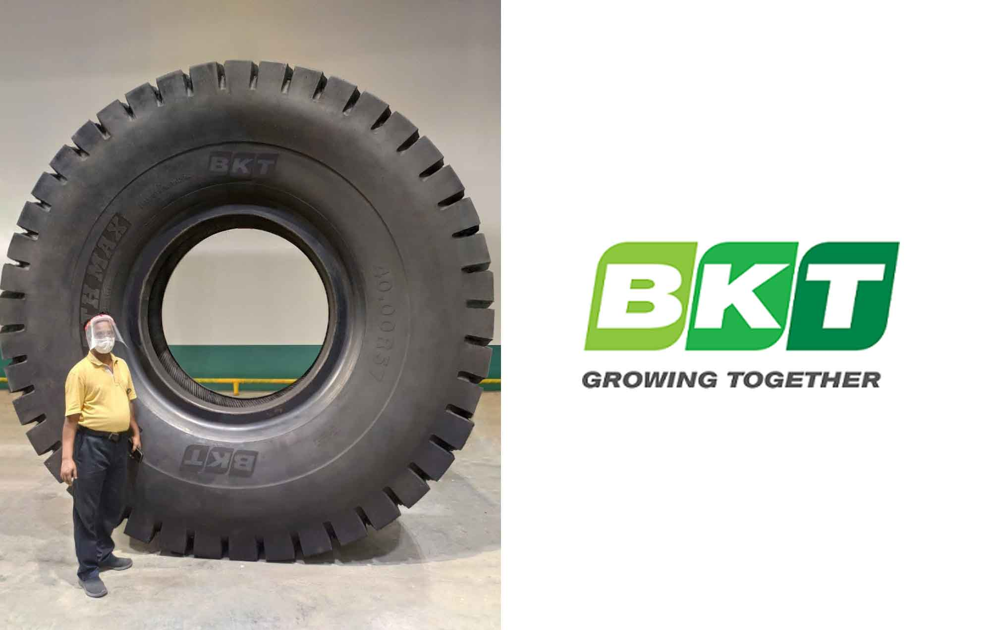 "The new 57"", BKT's giant tire: here is EARTHMAX SR 468"