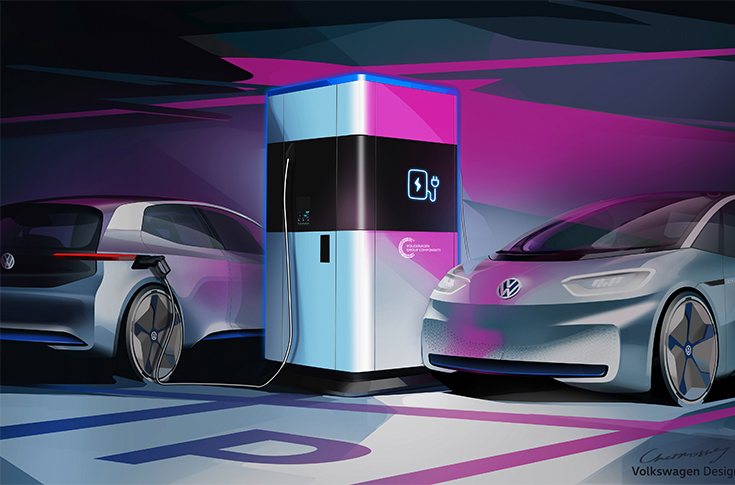 Volkswagen Develops Ultra-fast Portable Charging Station