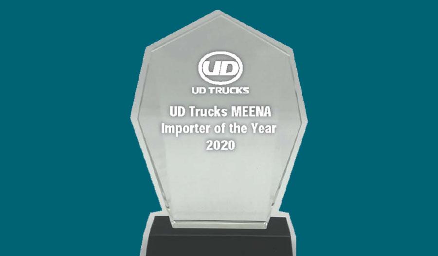 Al Masaood Commercial Vehicles & Equipment bags 'UD Trucks MEENA Importer of the Year 2020' Award