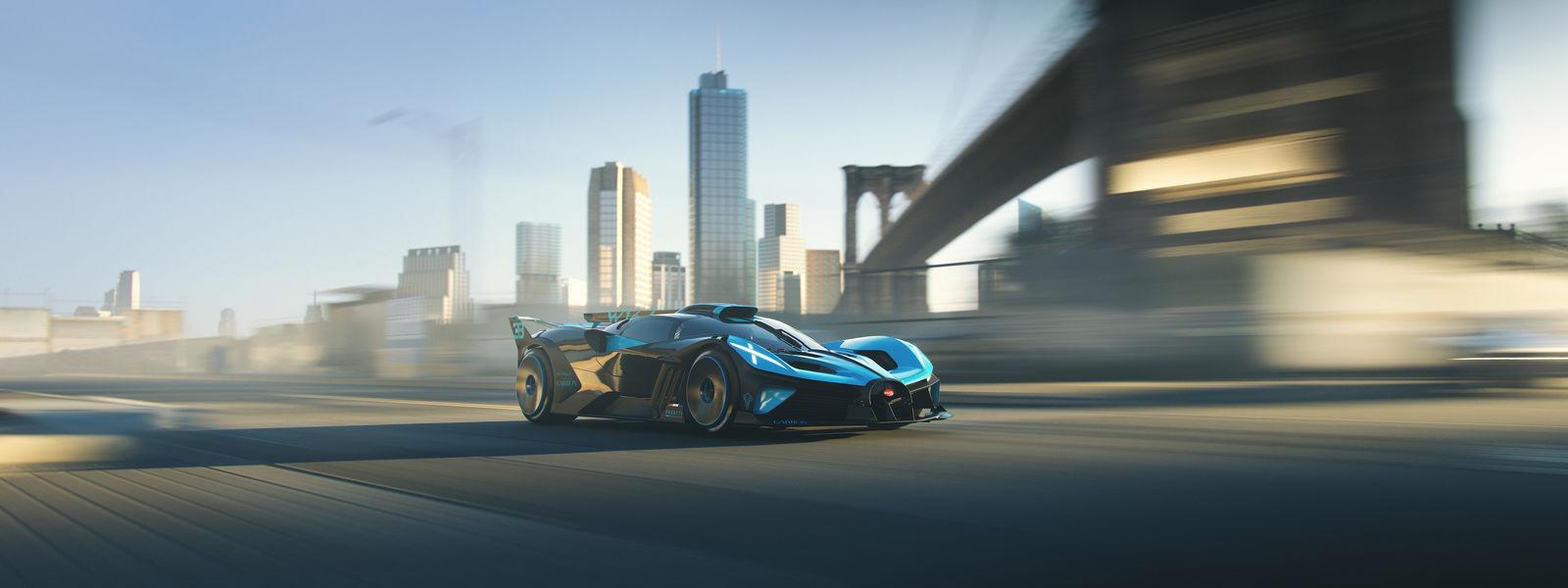 A (virtual) drive in the Bugatti Bolide