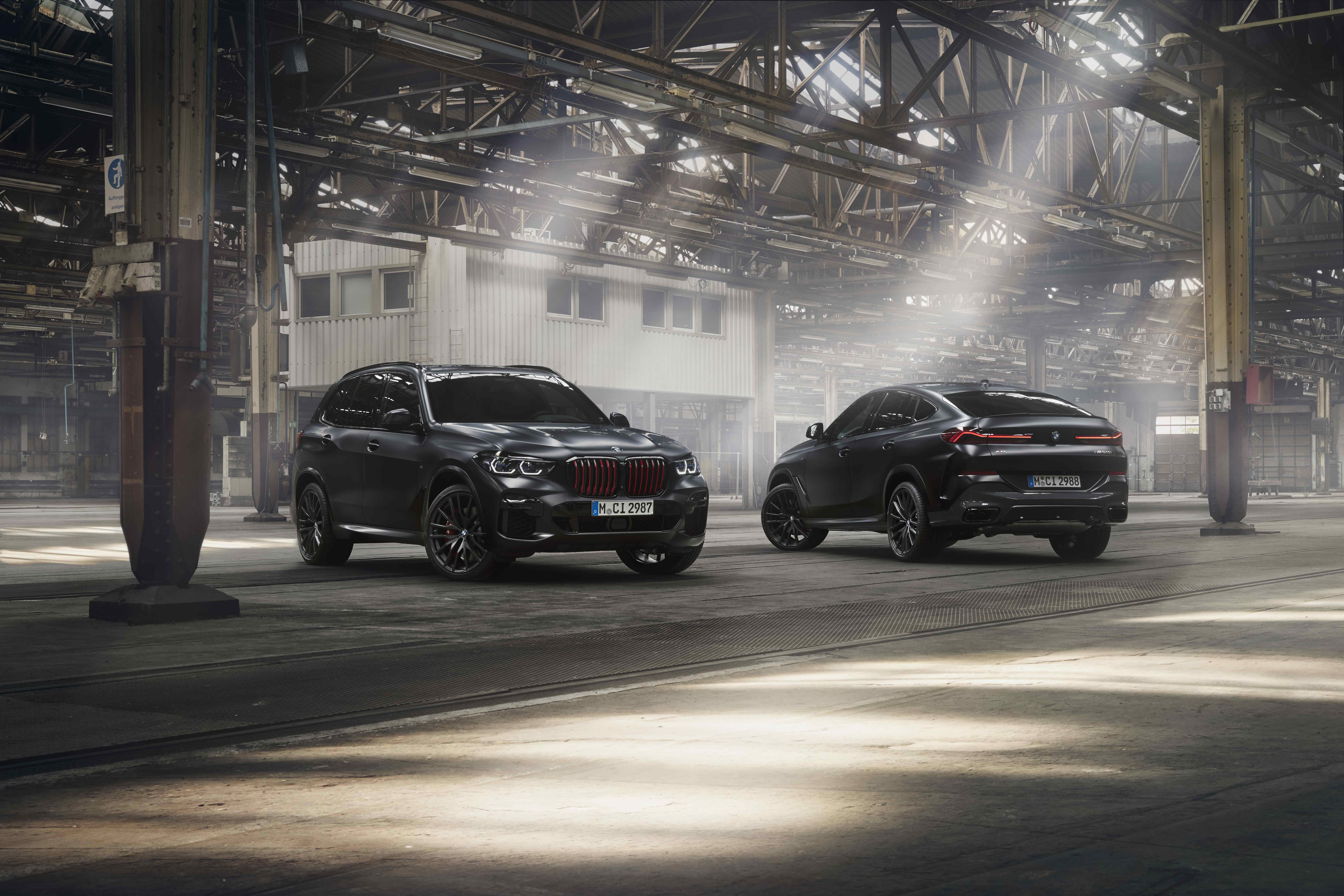 BMW X5 and BMW X6 limited editions Black Vermilion plus  BMW X7 limited edition in Frozen Black metallic.