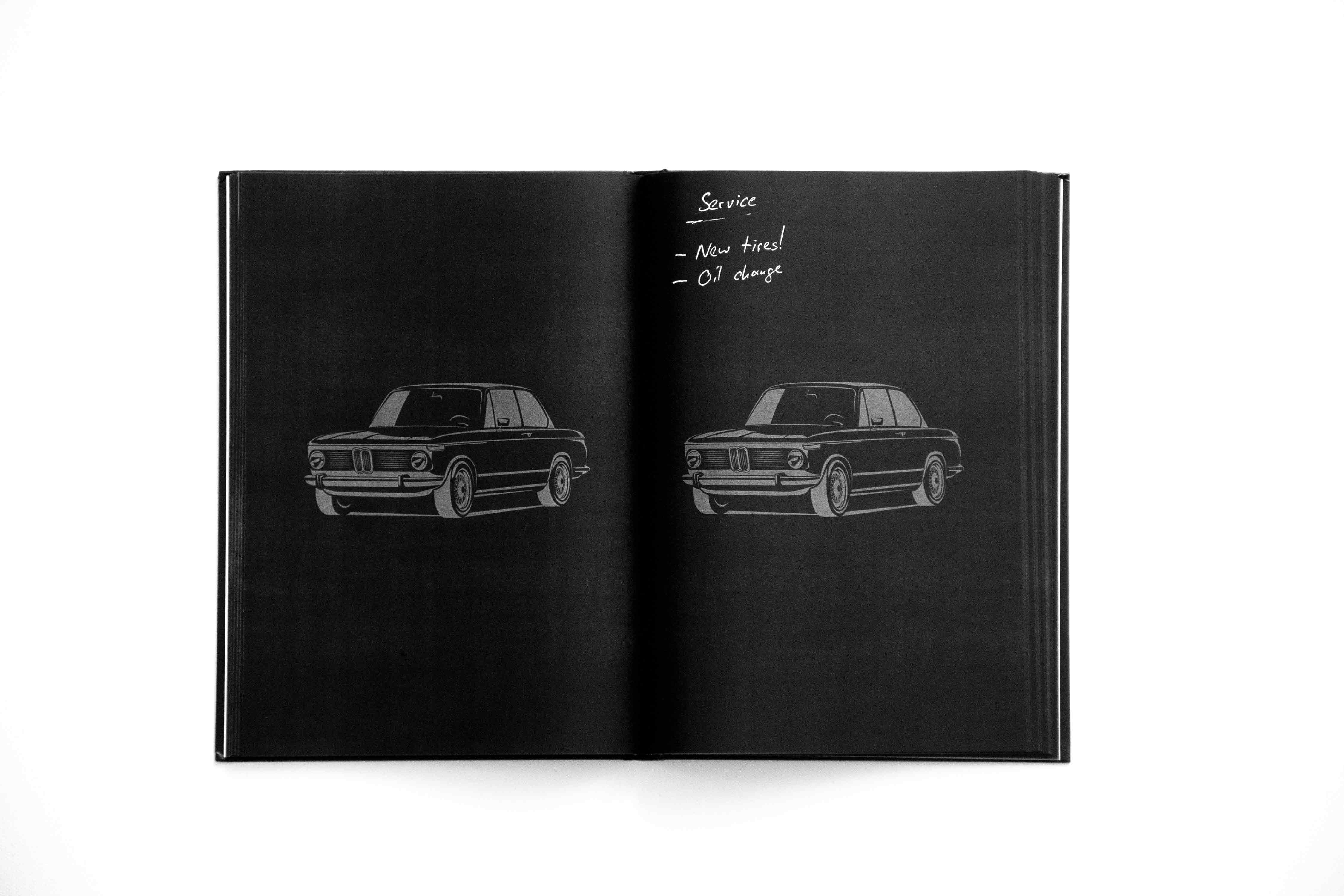 Write white on black! The somewhat different notebook for BMW 02 fans