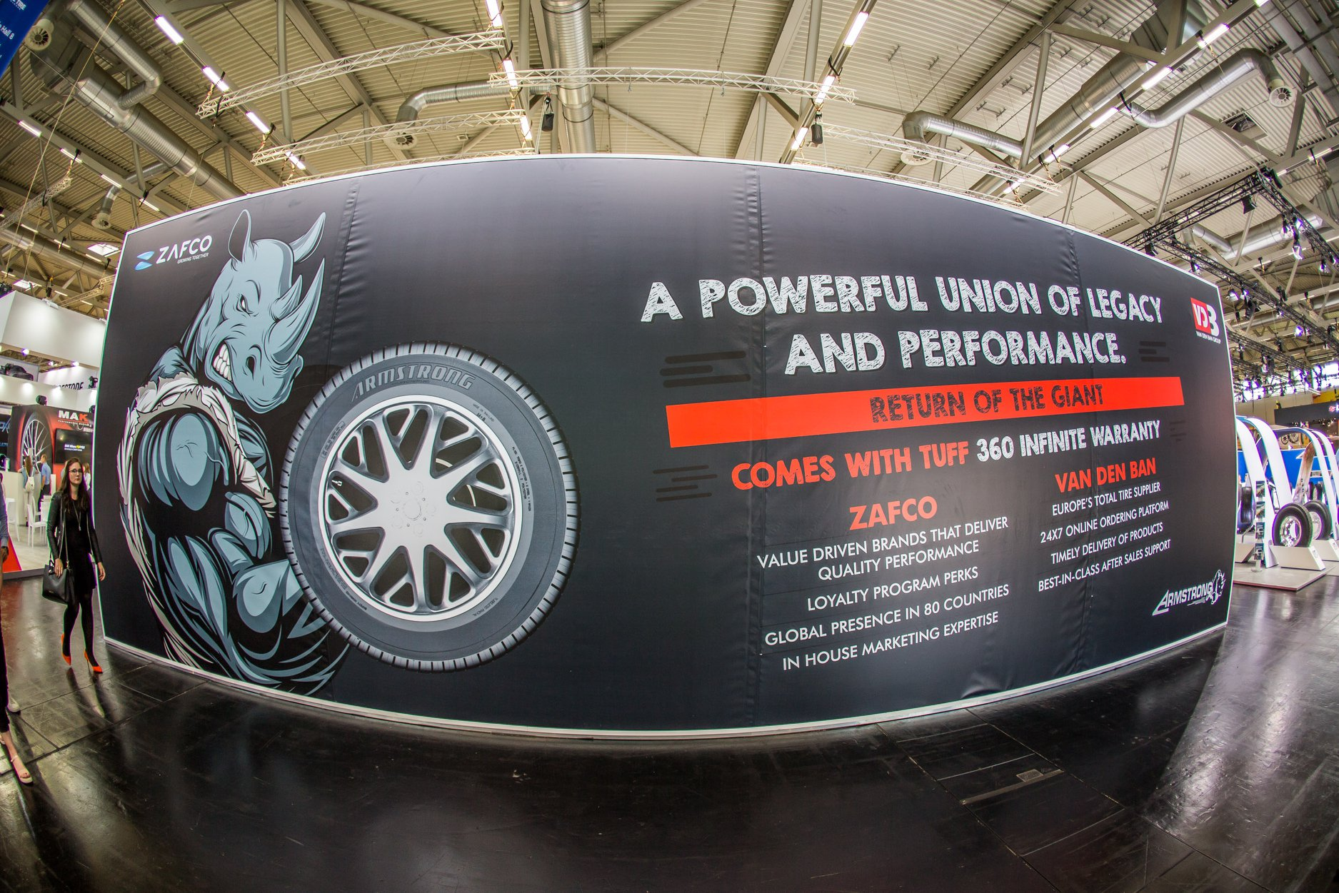 ZAFCO Teams up with Van Den Ban to Revive Armstrong Tire at Tire Cologne