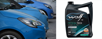 WOLF LUBRICANTS ANNOUNCES THE OPEL APPROVAL FOR OFFICIALTECH 0W-20 LS-FE