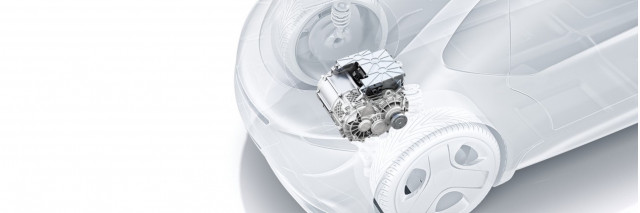 Bosch Develops E-Axle for Electric cars