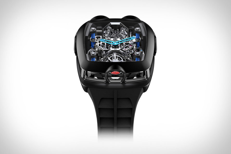 Jacob & Co. Bugatti Chiron 16-Cylinder Tourbillon Watch