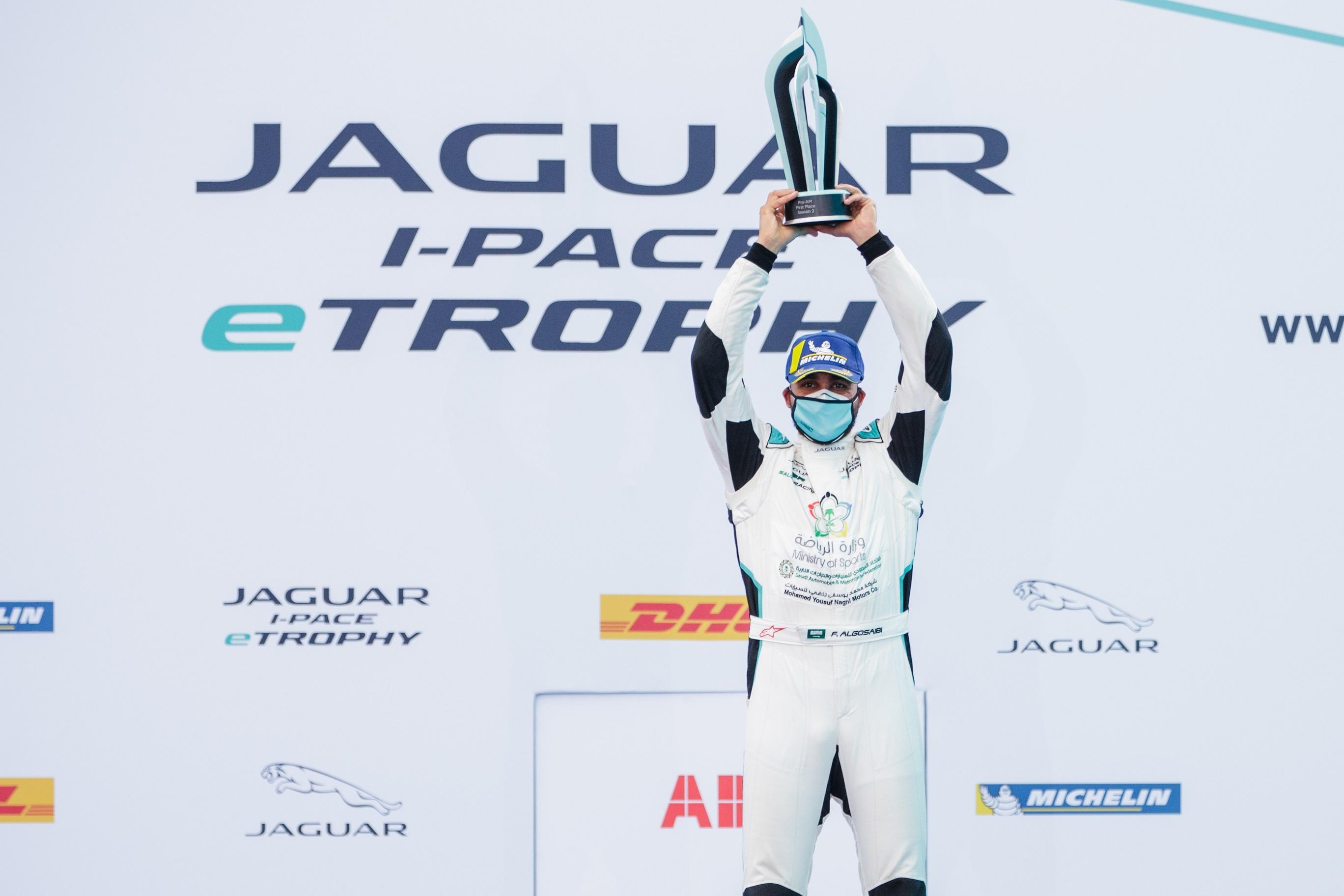 Simon Evans is the Jaguar i-Pace etrophy champion