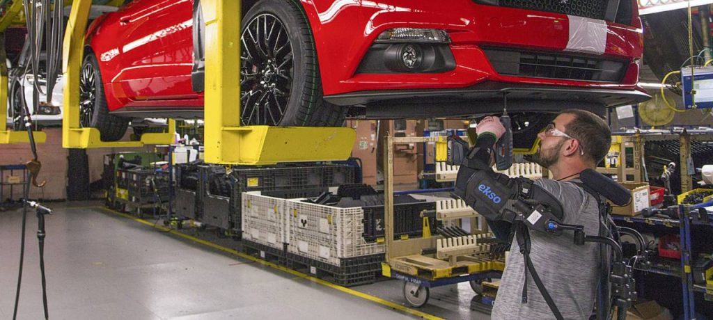Ford Makes Production Process More Efficient with the Use of Assembly Line Exoskeletons