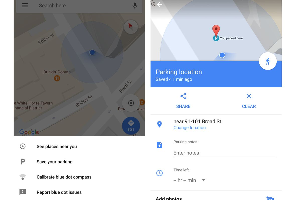 Google Maps Enhances Parking Reminder App