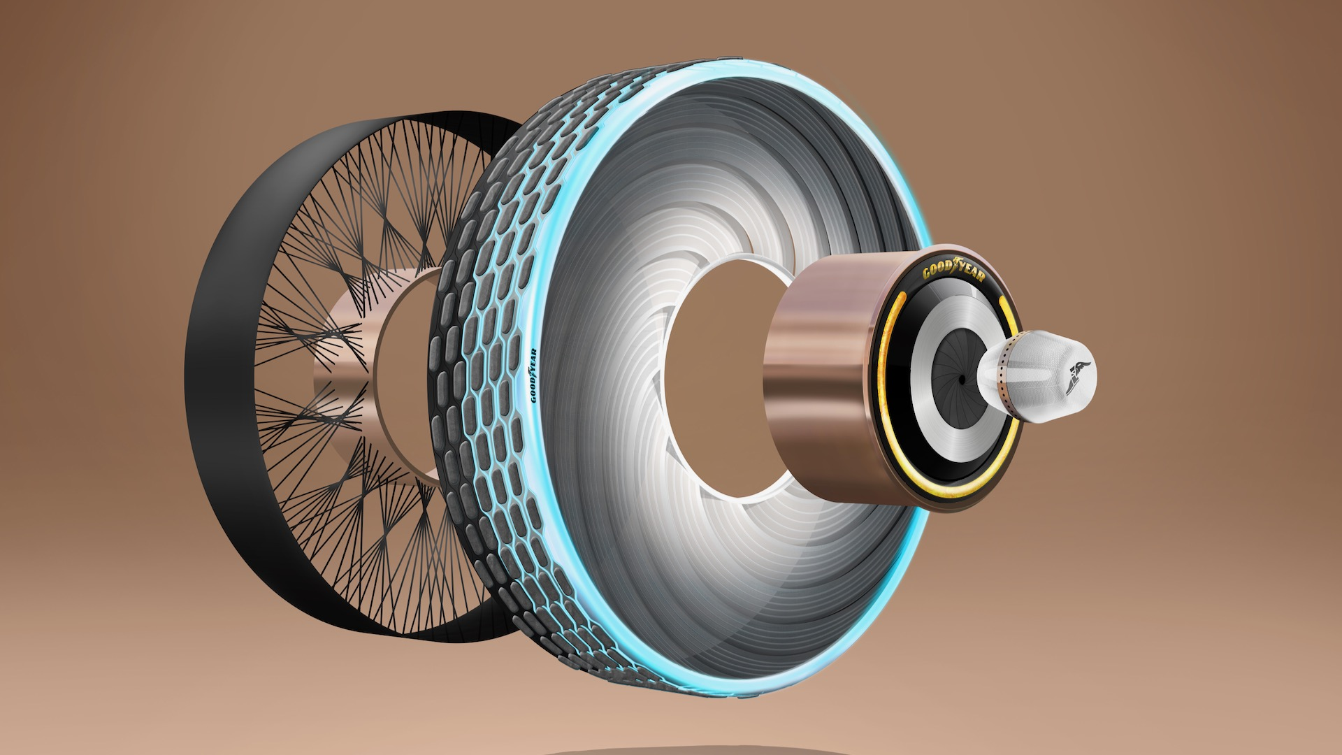 Goodyear Develops Tires with self-regenerating Tread for Electric Cars