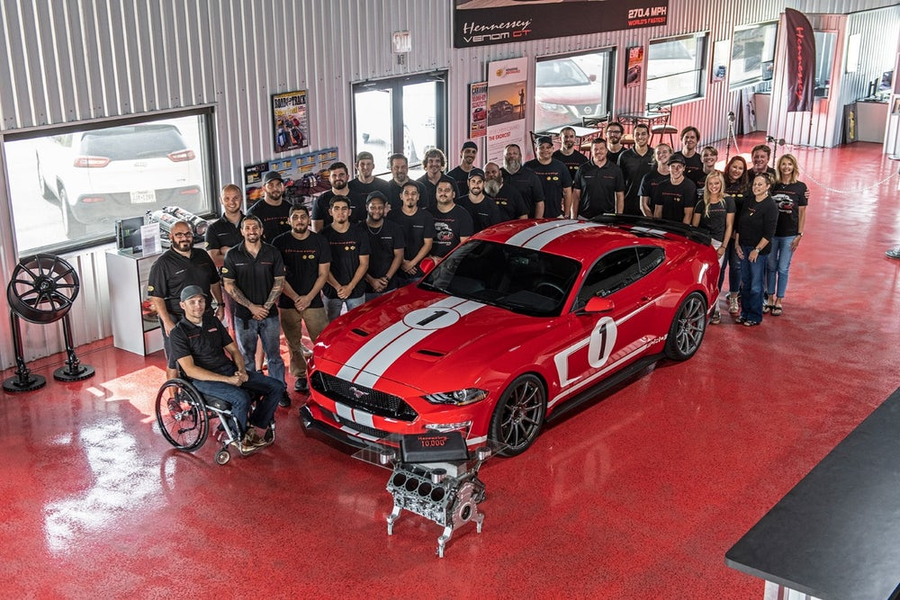 Hennessey Hits 10000 Mark with Heritage Mustang