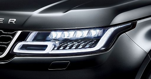 SMARTRIX and laser light from Osram Used in the new Range Rover and Range Rover Sport