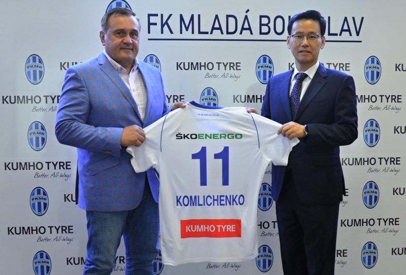 Kumho Tire Finalizes Partnership Deal with Czech Football Club