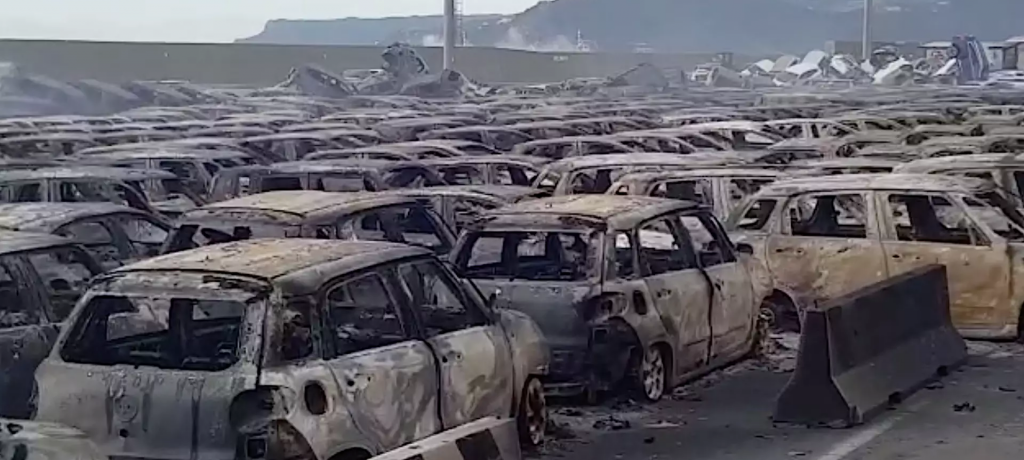 Hundreds of Maserati Scheduled to be Shipped to the Middle East Destroyed in Port Fire