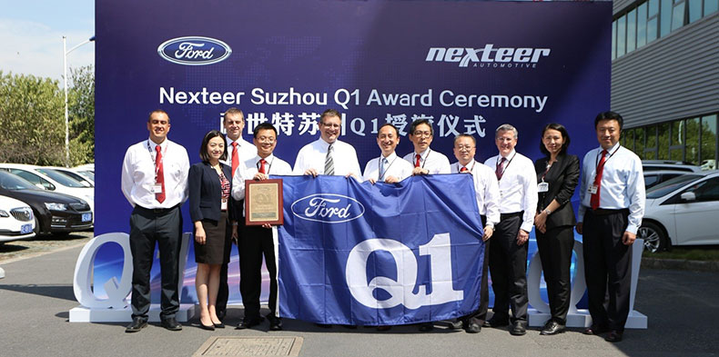 Ford Confers Prestigious Q1 Certification On Nexteer