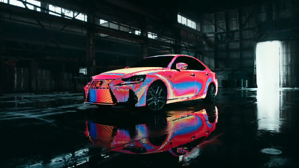 Lexus Creates Dazzling Light Show With LED Lights On Car - Car light show