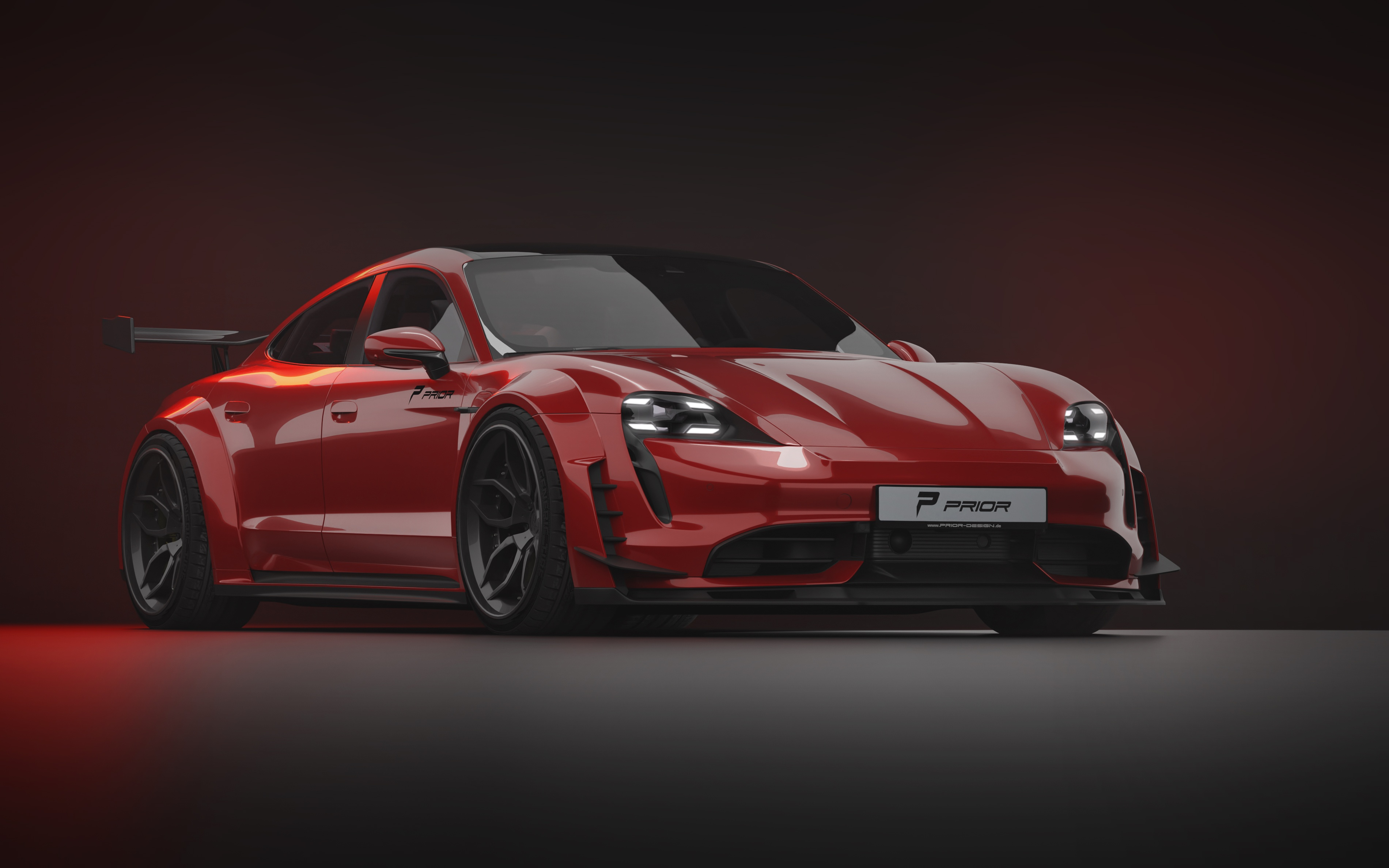 Wide body kit for the Porsche Taycan