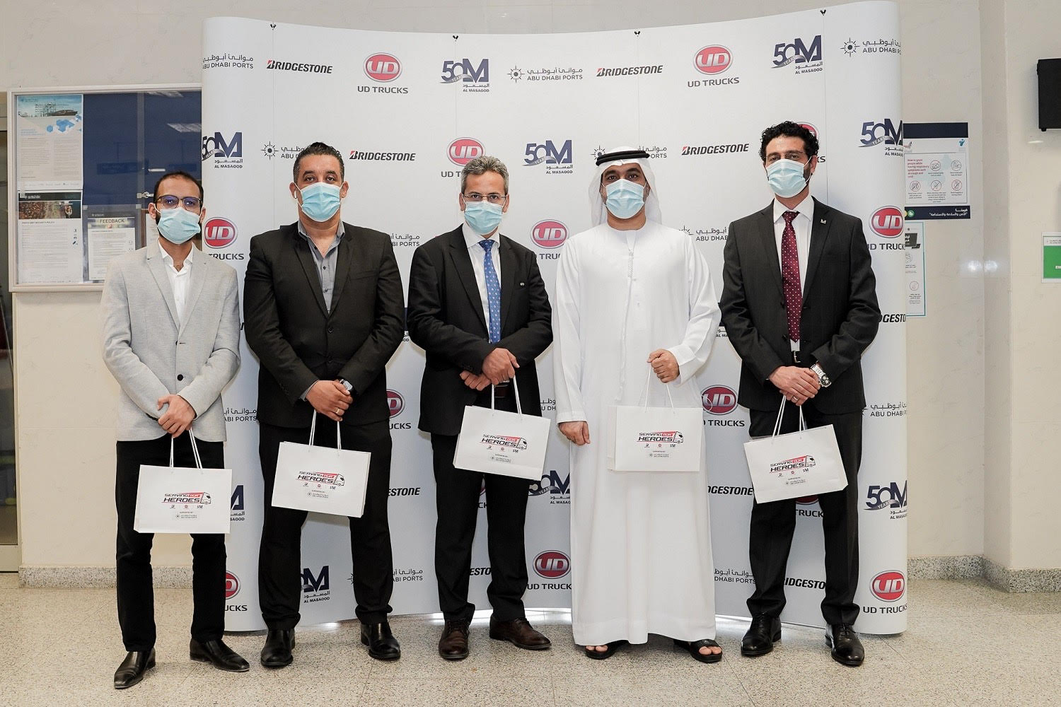 UD Trucks, Bridgestone, and Al Masaood join forces to help educate truck drivers about keeping safe against COVID-19