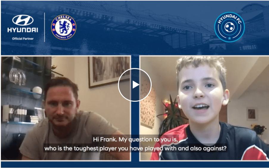 Kids put their questions to Frank Lampard at the launch of Hyundai FC Season two