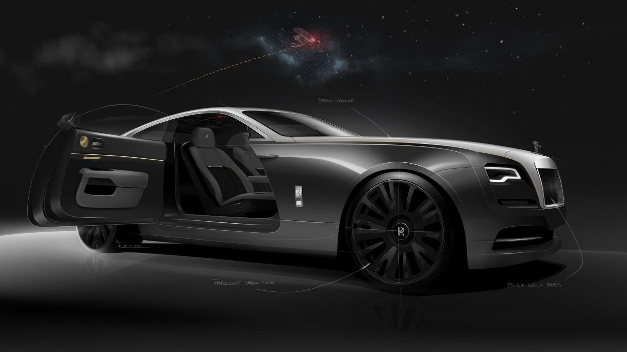 Rolls-Royce Releases Design Sketches of Wraith Eagle VIII