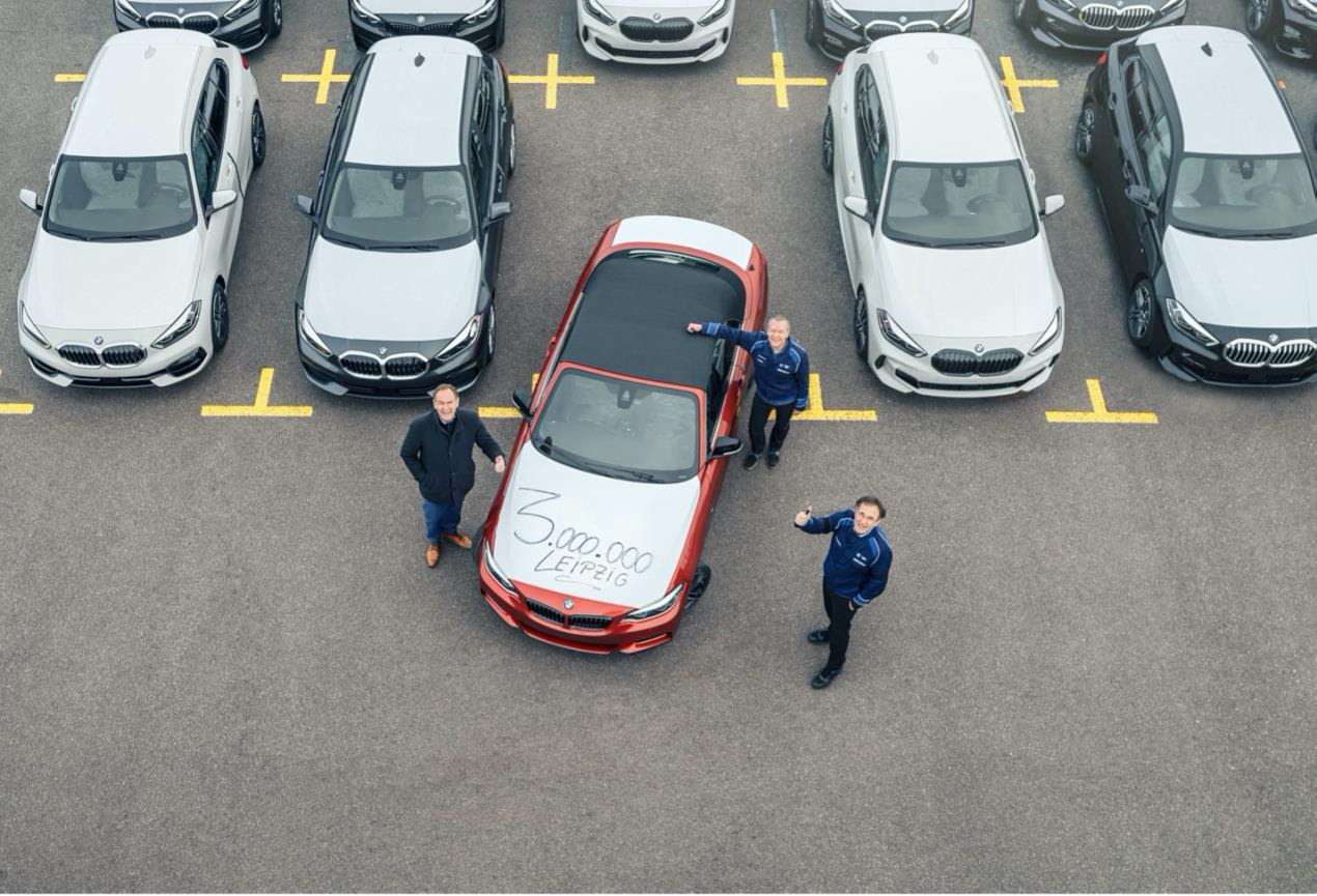 Three million BMWs made in Leipzig