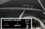 Volvo Files Patent for Head-Up Display on the Roof