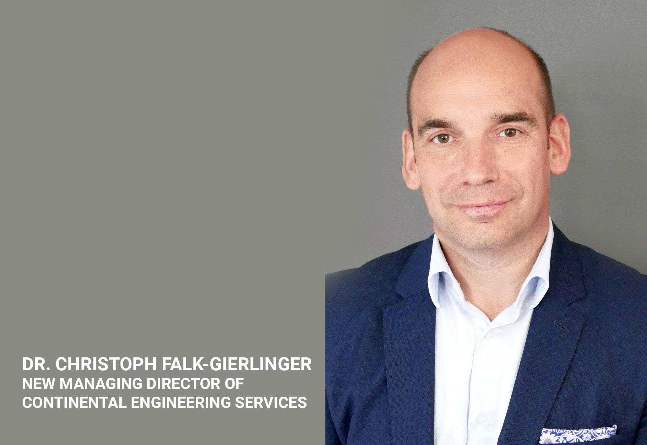 Dr. Christoph Falk-Gierlinger Named New Managing Director of Continental Engineering Services