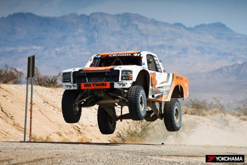 YOKOHAMA GEOLANDAR-equipped machine wins its class in the latest round of North America's ultimate off-road racing series